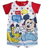 Mickey Mouse und Pluto Kollektion 2018 Strampelanzug 62 68 74 80 86 92 Strampler Einteiler Kurz Maus Disney Rot (Rot, 86)