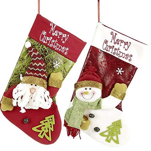 XDDQ Weihnachtssocken,Socken Die Geschenke Weihnachtsschmuck,Weihnachten Socken GeschenktüTe Weihnachten Dekorationen Candy Socken AnhäNger (10 Pack) (10 K Anhänger)