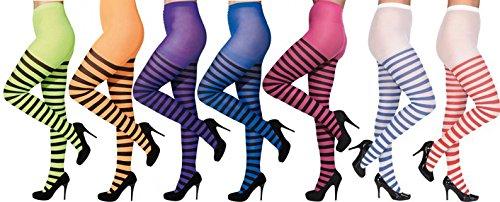Orlob Ringel Strumpfhose zu Karneval Fasching Halloween Kostüm pinkschwarz