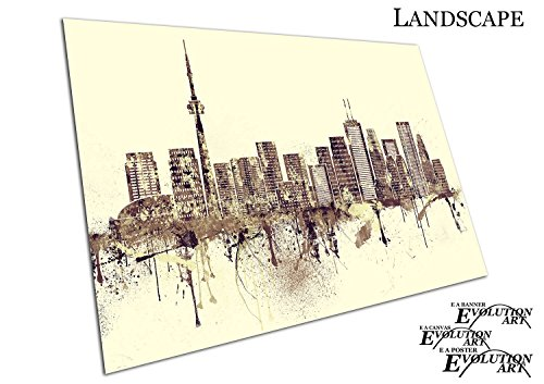 Kanada-spray (Poster Druck Painterly Spray Paint City of Toronto in Ontario Kanada - a2)