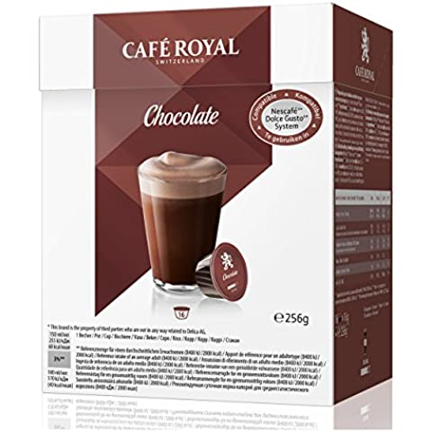Café Royal Chocolate, Cacao, Nescafé Dolce Gusto Compatibile, 6 X