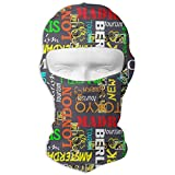 Miedhki Town Moscow Paris Berlin Madrid Tokyo Windproof Dust Protection Balaclava Full Face Mask Hood Heaover