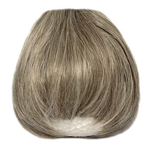 RemyHaar.eu - Clip In Extensions Pony Stirnfransen Haarteil Pony Verdichtung Haarverlängerung Gerade Pony Form - 8/613#(Mix Mittelbraun-Blond)
