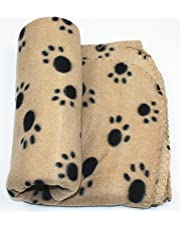 Pets Empire Pet Dog Cat Fabric Blanket Mat Bed with Paw Prints (Colour May Vary)
