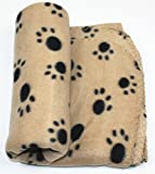 Pets Empire Pet Dog Cat Blanket Mat Bed with Paw Prints ( Color May Vary )