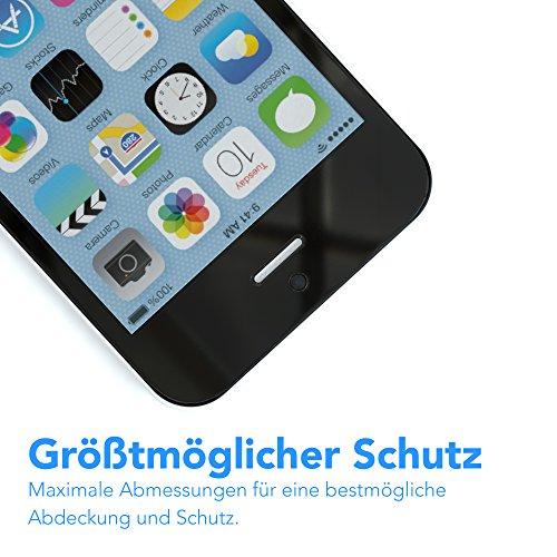 3x Apple iPhone SE / 5S / 5 / 5C Schutzfolie, EAZY CASE Displayschutz (Screen Protector) - Super dünne Displayschutzfolie (0,05mm) für mehr Sicherheit als Retail-Verpackung (3er Pack) 6x Folie