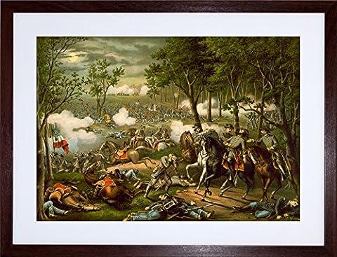 WAR AMERICAN CIVIL BATTLE CHANCELLORSVILLE HOOKER FRAMED PRINT PICTURE F12X1828
