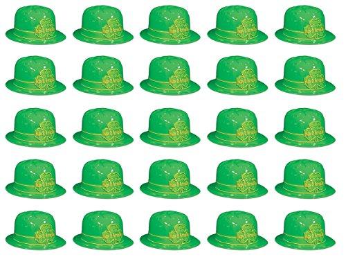 Beistle St Patrick's Day Kleeblatt Derby Hats 25-teilig grün/gold