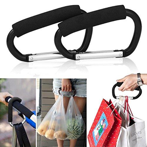2pcs-strong-buggy-carabiner-hooks-mummy-clip-pram-pushchair-shopping-bag-holder-14cm