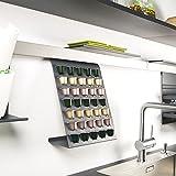 SO-TECH® Linero MosaiQ Kapselhalter Graphitschwarz für 35 Nespresso Kaffee Kapseln passend für Linero Nischensystem