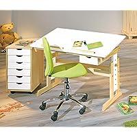Preisvergleich für Interlink Kinderschreibtisch Anas mit Stuhl Mali Grün und Rollcontainer ANALICE