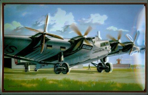 targa-in-metallo-nostalgico-lufthansa-junkers-ju-g38-elica-aereo-retro-scudo