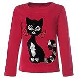 BEZLIT Mädchen Kinder Pullover Pulli Wende Pailletten Sweatshirt 21547, Farbe:Pink, Größe:134