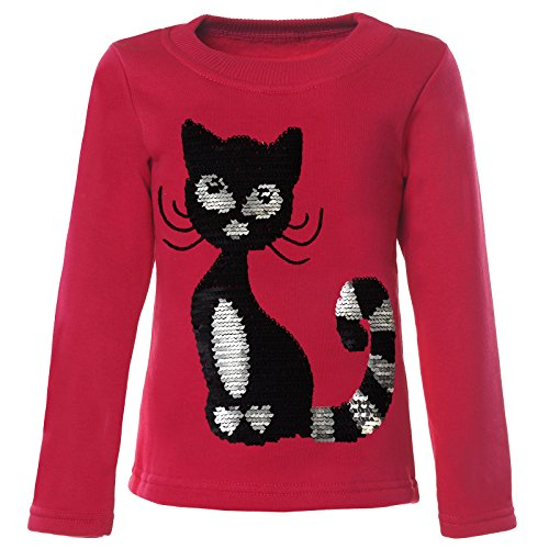 BEZLIT Mädchen Kinder Pullover Pulli Wende Pailletten Sweatshirt 21547, Farbe:Pink, Größe:122