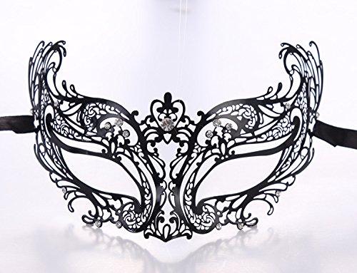 WITREE-Z Venedig Maske, die Hälfte gegenüber Metall eisernen Maske, Halloween Kostüm Party Festival, TY016 Liebe