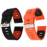 EL-move Silicone 22mm Bande Bracelet Montre Strap Remplacement Band pour Pebble Time...