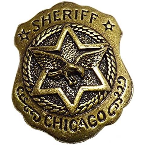 Spilla Pin sceriffo stella sceriffo Chicago Aquila Western Country Wild West - Spilla Stella Pin