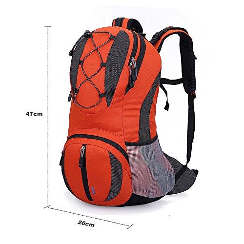 Lily's Locker - 20L Trekking Rucksack (47 cm x 26 cm x 15 cm) Damen und Herren Outdoor-Tasche für die Freizeit, zum Klettern, Radfahren, Wandern, für Radtouren und andere Aktivitäten Orange