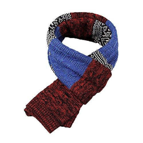Bufanda de Hombre la tela escocesa cozy Lana Abrigo Del Mantón cuello bufanda Regalos para Hombre unisexo...