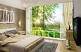 WH-PORP Benutzerdefinierte Fototapete Wandbild Garten Landschaft 3D Landschaft Hintergrund Wandmalerei-200cmX140cm