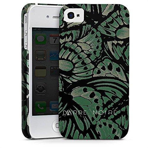Apple iPhone X Silikon Hülle Case Schutzhülle BARRE NOIRE Mode Schmetterling Premium Case glänzend