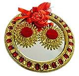 Loops n knots Red & Gold Crystal Wedding /Engagement Ring Platter/Holder