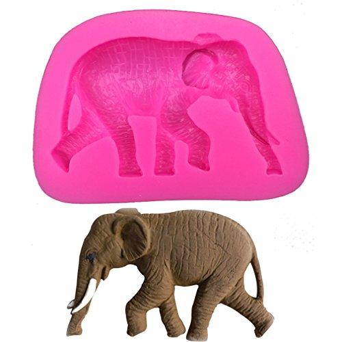 Preisvergleich Produktbild iTemer Elefant Form Silikon Muffinschale Kuchen Schimmel Handseife Küchenwerkzeuge 1 Stück
