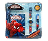 Spiderman Set with Clock, Journal and Pen (Kids mv92382)