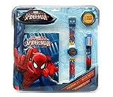 Spiderman - Set con Reloj, Diario y bolígrafo (Kids MV92382)