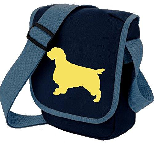 Bag Pixie ,  Unisex Erwachsene Umhängetaschen Fawn Dog on Blue Bag