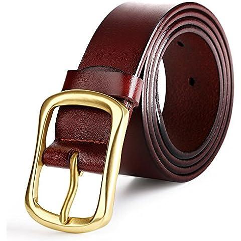 Cintura pregiata pelle da uomo cinturino 1.5