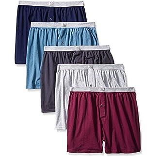 Fruit of the Loom de Hombre 5Unidades Suave elástico Knit Boxer–Colores Pueden Variar