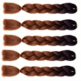 Wigenius Braiding Hair 100% Kanekalon Fiber Braids Ombre Color 24 inch 100g Synthetic Braid Hair Extensions