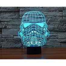 SmartEra® 3D Star Wars Stormtrooper imperial soldado clonModelo 7 cambiar el color Botón del tacto del escritorio del USB LED de la lámpara