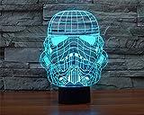 SmartEra 3D Star Wars Stormtrooper imperial soldado clonModelo 7 cambiar el color Botón del tacto del escritorio del USB LED de la lámpara