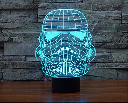 SmartEra® 3D Star Wars Stormtrooper imperiale Clone Trooper Modello Pannello positivo 7 cambiamento di colore Pulsante USB tocco LED Desk Lamp