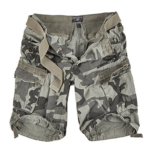 Geographical Norway Herren Cargo Short People (M, Grey Camo)
