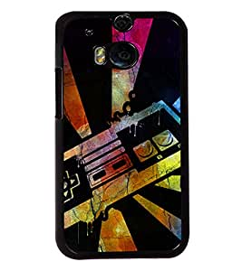 PRINTVISA Colourful Ray Premium Metallic Insert Back Case Cover for HTC One M8 - D6012