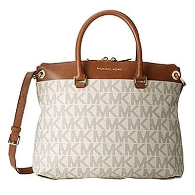 Michael Kors Aubrey Large Satchel Vanilla/luggage