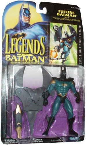 Kenner Year 1994 Legends of Batman 5-1/2 Inch Tall Action Figure - Future Batman with Pop-Up Aero-Power Wings Plus Bonus Official Collector's Card (Batman Action-figuren Wings)