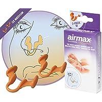 AIRMAX® Nasendilatator für eine leichtere Nasenatmung bei verstopfter Nase - spreizt die Nasenflügel - mit Aufbewahrungsdose (2 Stück Größe M)