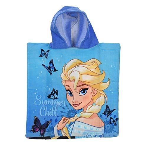 LA Poncho baño Capucha Frozen - Elsa Anna Azul -