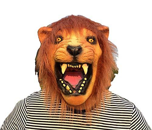 kung Halloween Latex Animal Maske Kopfbedeckung Masquerade Zeigen Requisiten Vorräte ()