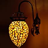Earthenmetal Handcrafted Bud Shaped White Glass Wall Lamp/wall Light