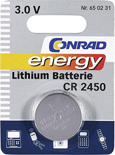 Conrad 650231 Lithium 600mAh 3V Batterie Rechargeable - Batteries Rechargeables (600 mAh, Lithium, 3 V, Métallique, 1 Pièce(s))