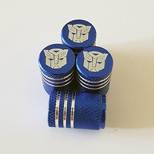 Preisvergleich Produktbild Speed Demon Transformers Autobots Blaue Laser gravierte Legierung Rad Auto Reifen Ventil Staub Caps Passt Alle Modelle