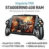 JXD S192K 7 pouces 1920X1200 Quad Core 4G + 64 Go Nouveau jeu de poche Game 10000mAh Android 5.1 Bluetooth 4.0 Tablette PC Console de jeux vidéo Maping Map Andriod Jeux PC 18 simulateurs Jeux