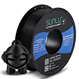 SUNLU Carbon Fiber PLA filament 1kg 1.75mm 3D Printer Filament, Dimensional Accuracy +/- 0.02 mm, 1kg Spool, 1.75 mm, Carbon Fiber Black