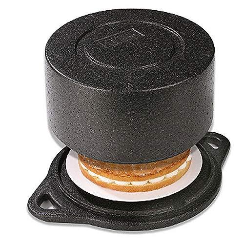 Caja de transporte de polipropileno negro expandido para transportar tartas y pasteles. Protege tu tarta del calor y el frío: Extremadamente ligero y duradero. Fácil de limpiar, absolutamente seguro para alimentos. El alto efecto aislante y la mínima...
