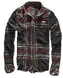 Brandit Raven Wire Hemd,choco/red,Gr.S